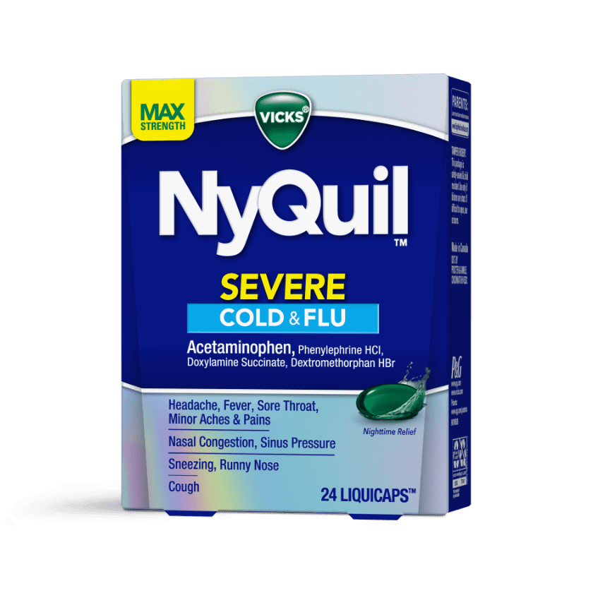 NyQuil Severe Sore Throat and Fever Medicine