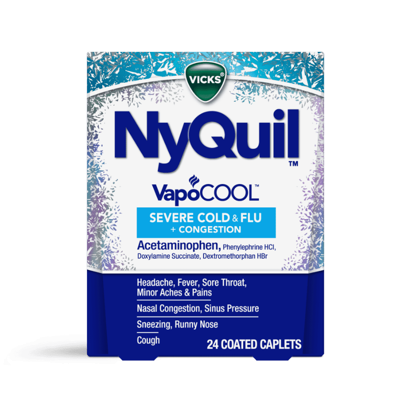 NyQuill Severe VapoCOOL Nighttime Cold & Flu Relief Caplets
