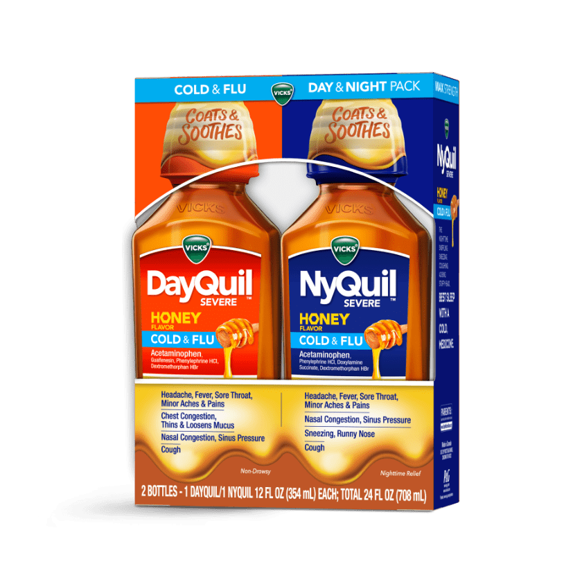 DayQuil and NyQuil Severe Cough, Sneezing & Runny Nose Relief