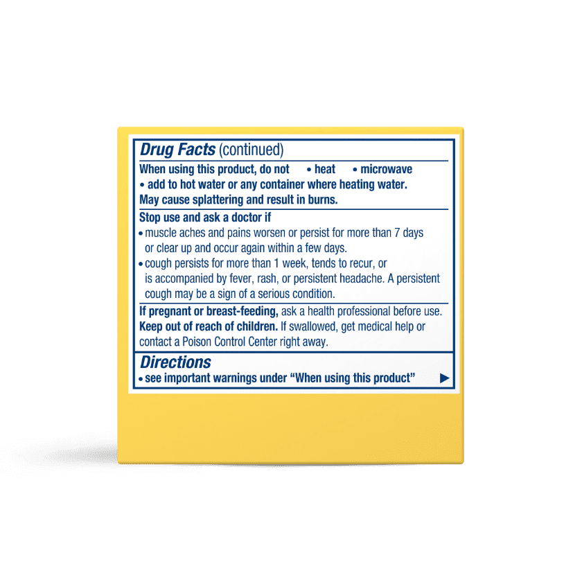 Vicks VapoRub with Lemon Scent Usage Instructions