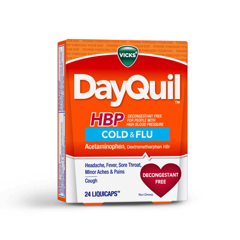 DayQuil High Blood Pressure Cold Medicine