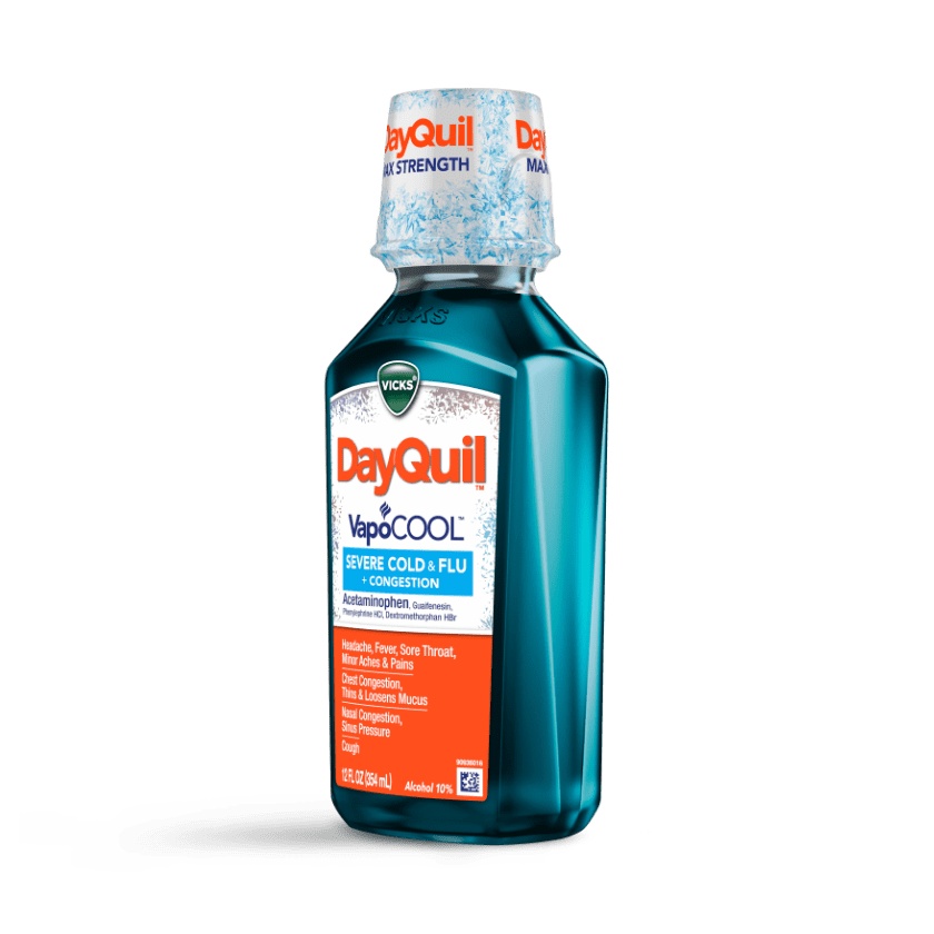 DayQuil Severe VapoCOOL Daytime Syrup Drug Facts & Uses