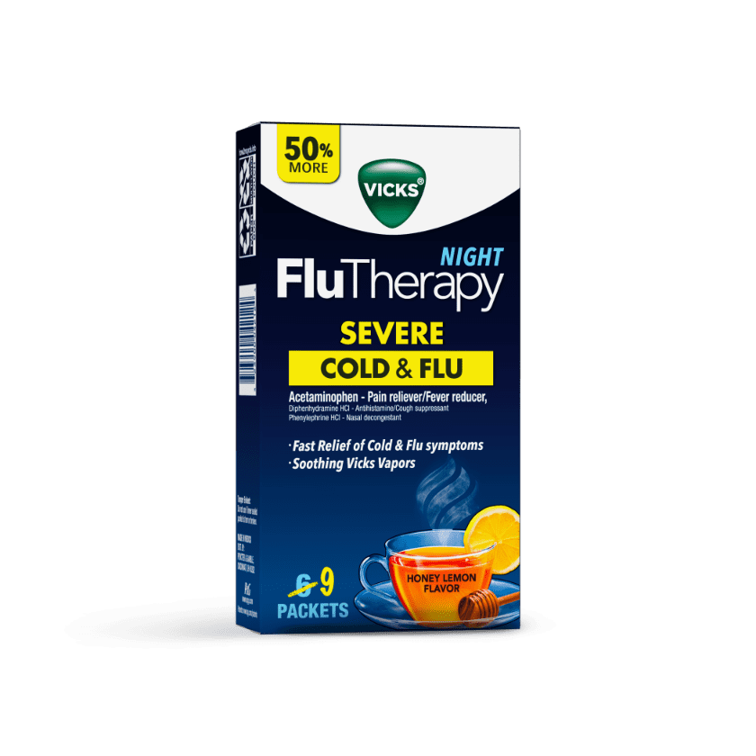 Vicks Night Time FluTherapy for Fast Relief from Cold & Flu Symptoms