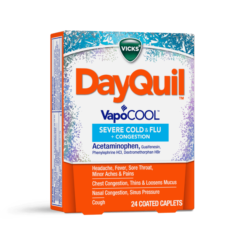 DayQuil Severe VapoCOOL Cough Relief Caplets