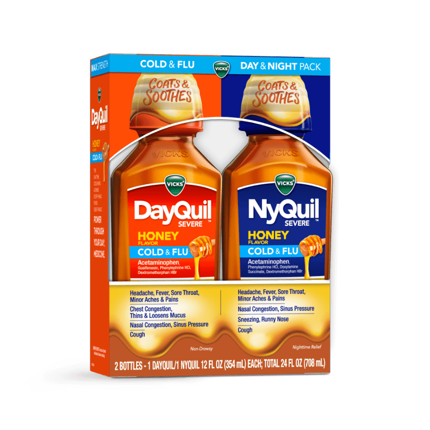 DayQuil and NyQuil Severe Sore Throat, Sinus and Nasal Congestion Relief