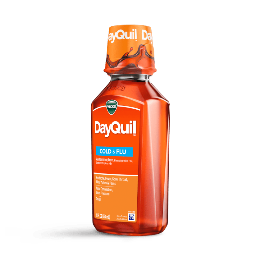 DayQuil Cold & Flu Liquid Drug Facts & Uses