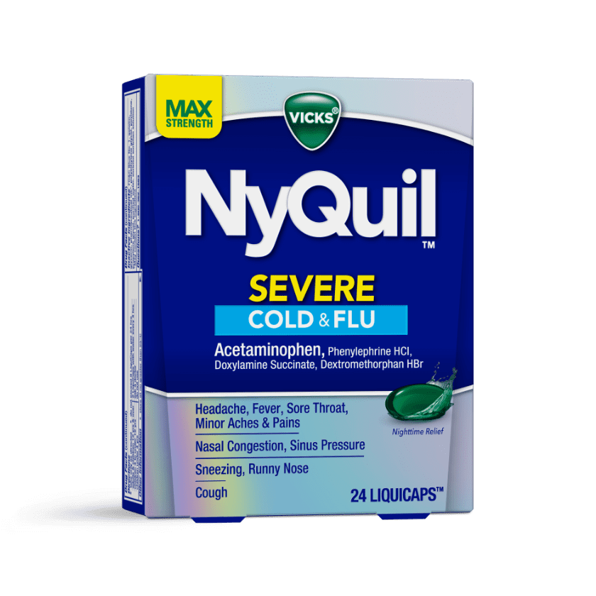 NyQuil Severe Runny Nose, Sneezing Cough Relief Liquicaps
