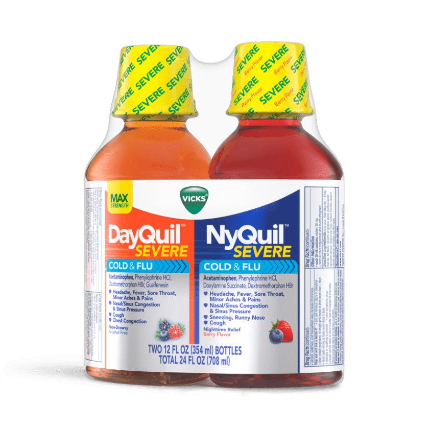 NyQuil and DayQuil SEVERE Cold & Flu Relief Liquid