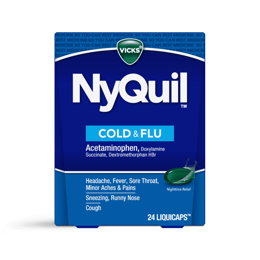 NyQuil Cold & Flu Nighttime Relief LiquiCaps