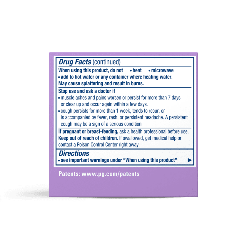 Vicks VapoRub with Lavender Scent Usage Instructions