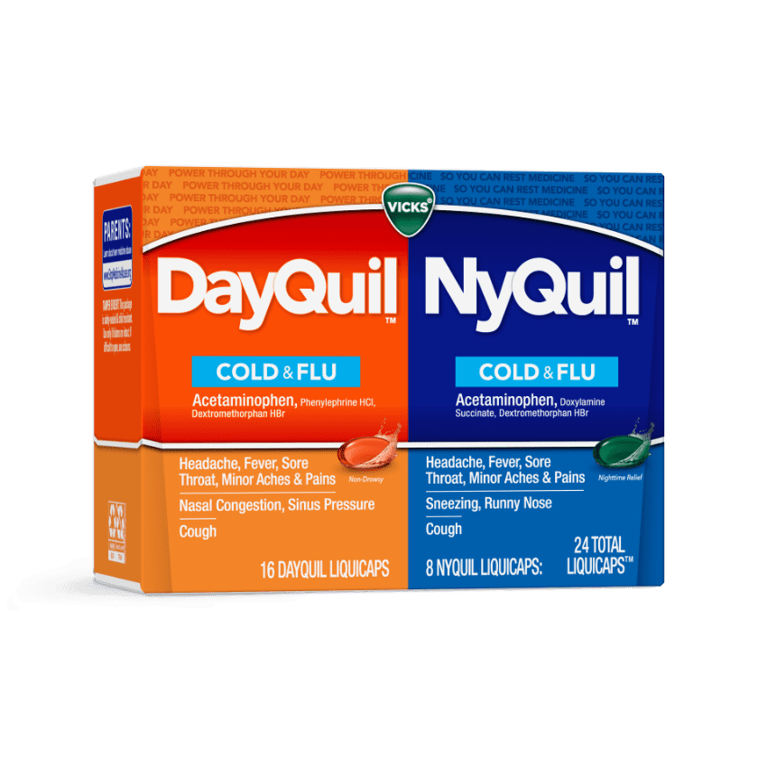 DayQuil and NyQuil Cold & Flu Relief Medicine