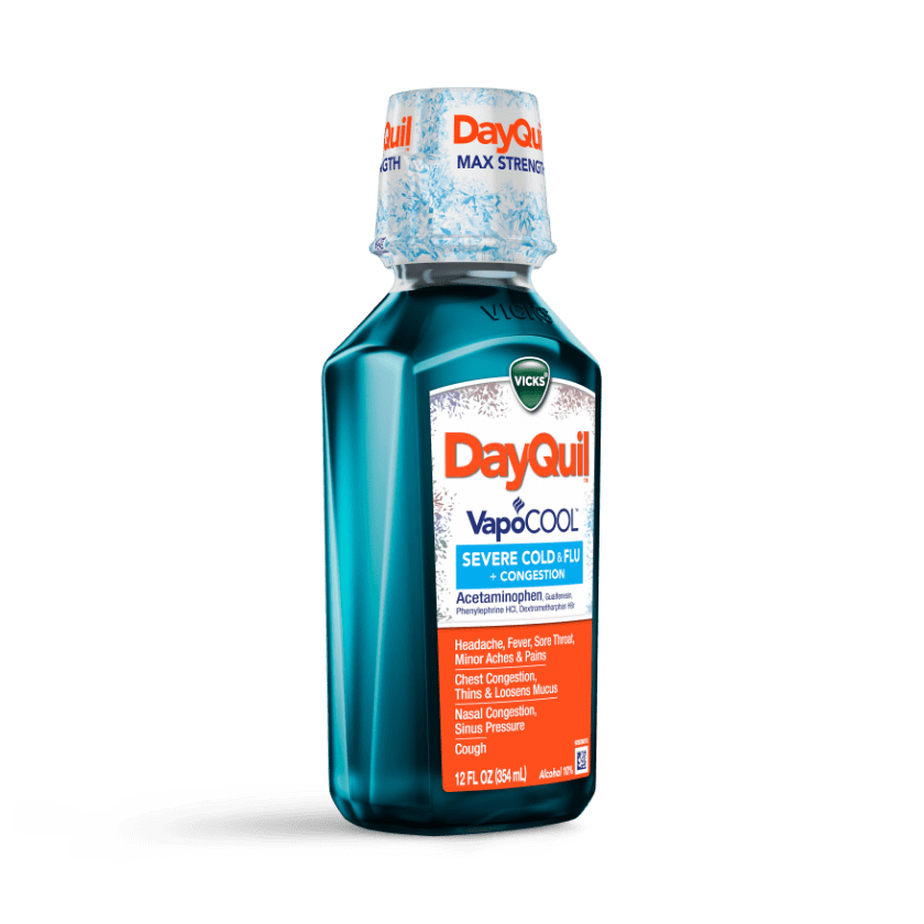 DayQuil Severe VapoCOOL Daytime Cough & Sore Throat Relief Syrup