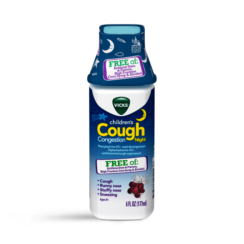 Vicks Children's Cough & Congestion Free Of Artificial Dyes & Flavors