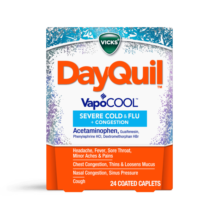 DayQuil Severe VapoCOOL Daytime Cough, Cold & Flu Relief Caplets, 24ct