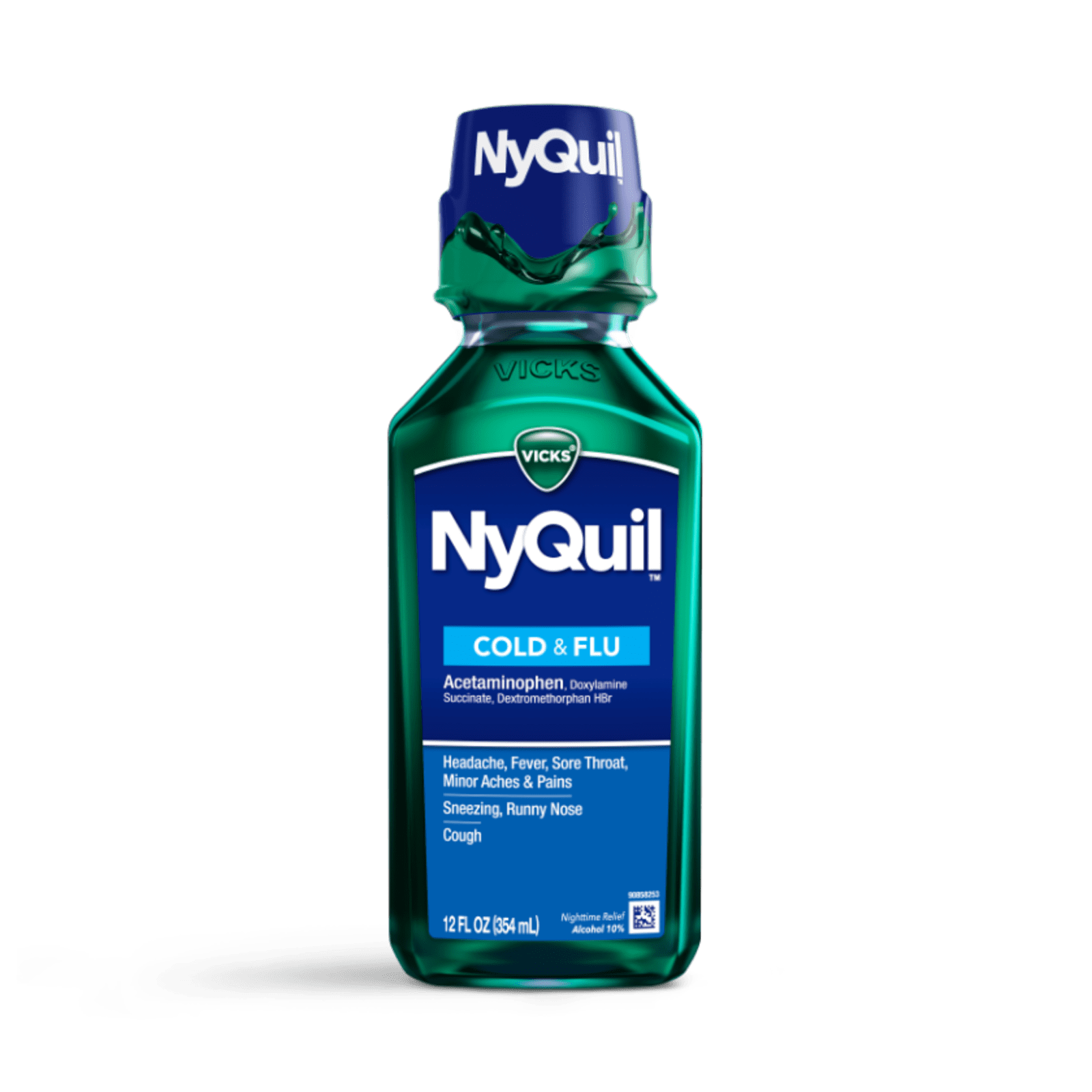 NyQuil™ Cold & Flu Nighttime Relief Liquid
