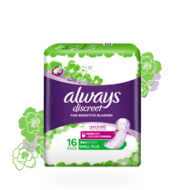 Always Discreet incontinence pads in size small plus