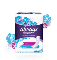 Always Discreet incontinence pads in size long plus