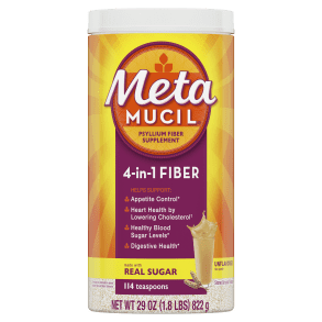 Metamucil Real Sugar Unflavored Coarse Powder