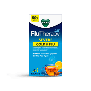 Vicks FluTherapy Severe Cold & Flu Relief Day Time Hot Drink