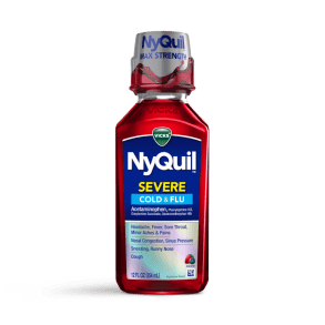 NyQuil Severe Berry Cold & Flu Nighttime Relief Liquid