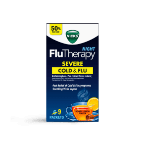 Vicks FluTherapy Severe Cold & Flu Relief Night Time Hot Drink