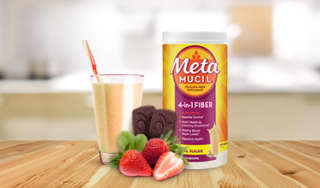 Milk Shakes with touch of Metamucil Fiber Supplements
