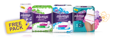 Get my free sample on incontinence products