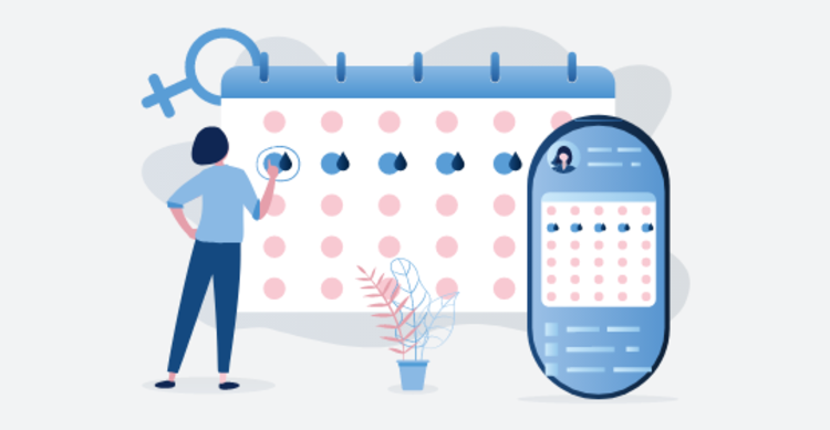 Period Tracking with a Period Calendar