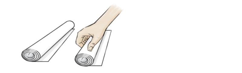 Tear off paper towels and roll them into tight tubes.