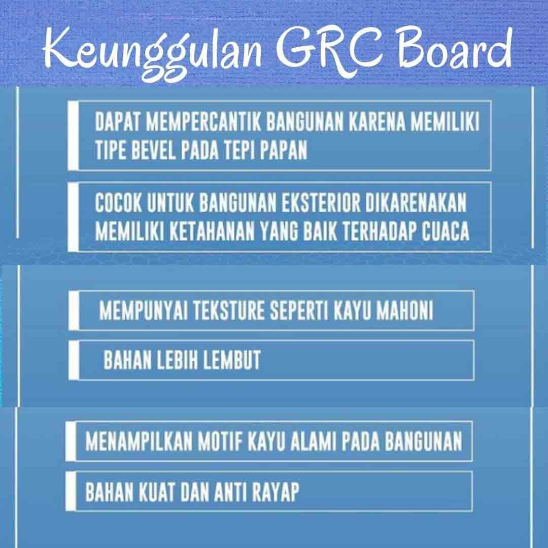 Harga Terbaru Papan GRC Di Tigaraksa