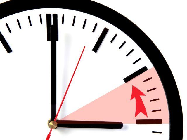 Zeitumstellung Uhr wird zurückgestellt