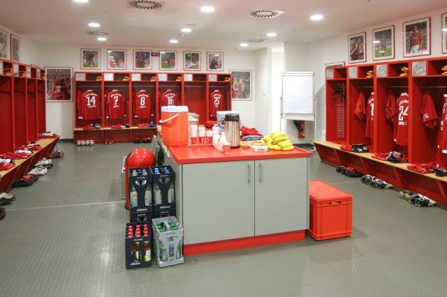 Bayern-Kabine in der Allianz Arena