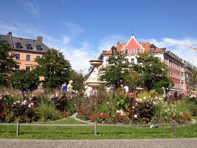 Gärtnerplatz im Sommer