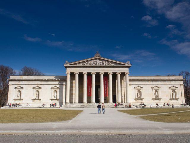 Die Glyptothek auf dem Königsplatz