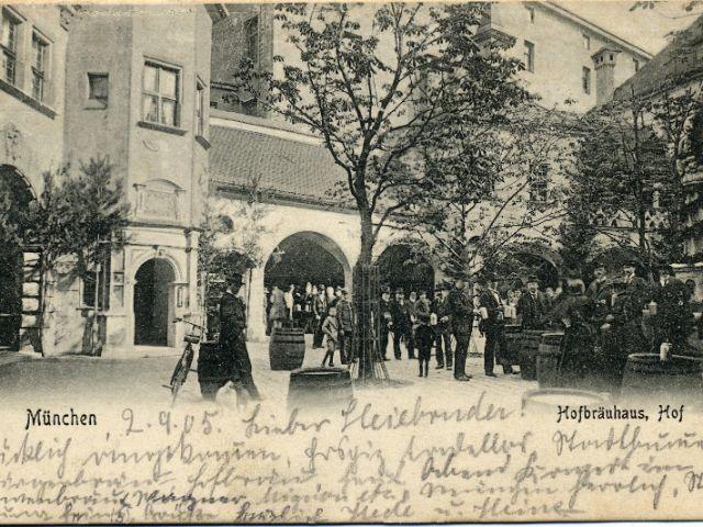 Postkarte Münchner Hofbräuhaus