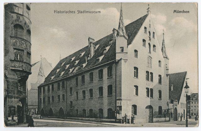 "O. Zieher, Postkarte ""Historisches Stadtmuseum München"""