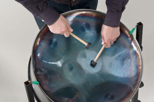 Musikinstrument Steel-Pan in der Sammlung Musik Münchner Stadtmuseum