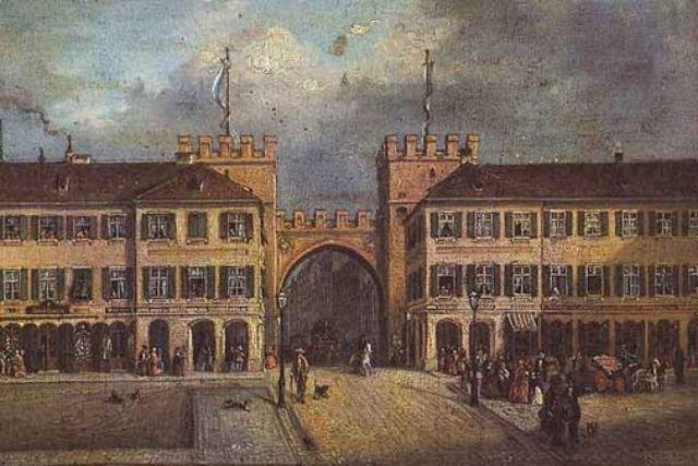 Karlstor Stachus München 1870 alt früher Carl August Lebschée