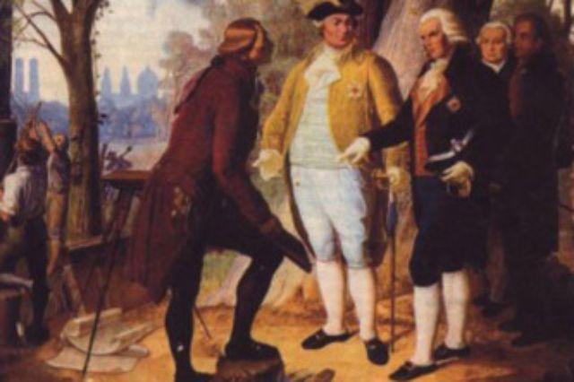 Friedrich Ludwig Sckell, Kurfürst Karl Theodor und Graf Rumford im Englischen Garten München