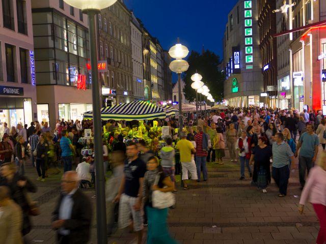 Die Kaufingerstraße in der Münchner Altstadt