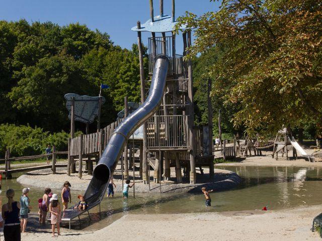 Der Wasserspielplatz im Westpark