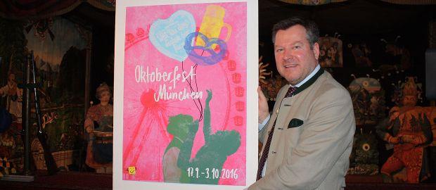 Wiesnplakat 2016: Vorstellung durch Bürgermeister Schmid