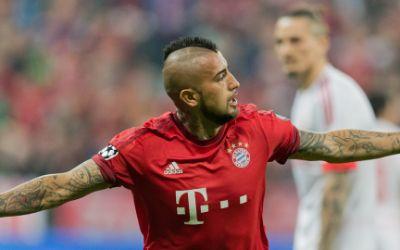 Vidal jubelt nach seinem 1:0-Führungstreffer.