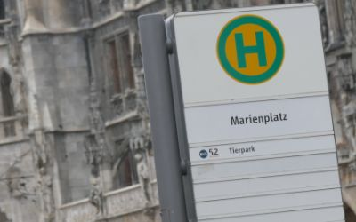Bushaltestelle am Marienplatz