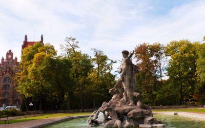 Alter botanischer Garten im Herbst