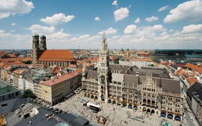 Marienplatz von oben