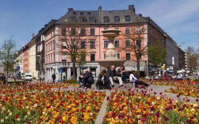 Der Gärtnerplatz in München Isarvorstadt