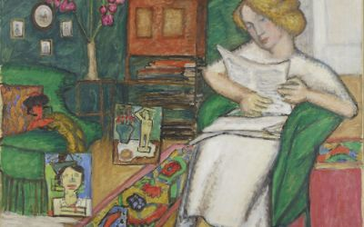 Bild aus der Sammlung zum Blauen Reiter.