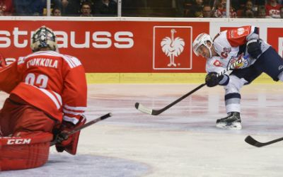 Spielszene EHC Red Bull gegen Klagenfurt