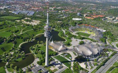 Luftaufnahme vom Olympiapark München